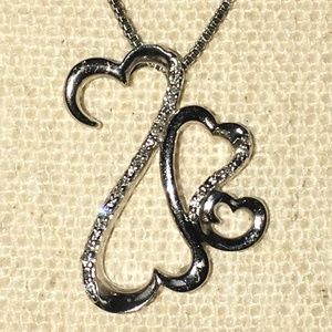 Open Hearts Family by Jane Seymour Diamond Pendant
